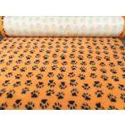 Dry Bed Nonslip Pomarańczowy/Czarne Łapki Łapki 50x75