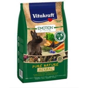 Vitakraft Emotion Pure Nature Herbal 600g Karma dla Królików