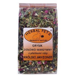 Herbal Pets Grysik Ziołowo-Warzywny z Płatkami Róży